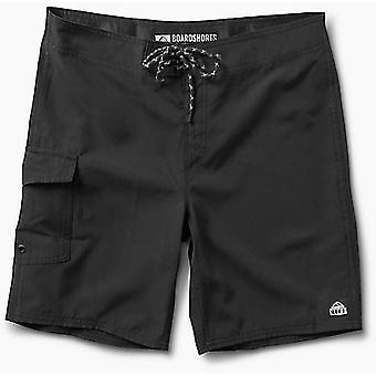 Reef Lucas 3 Shortie Short Boardshorts in Schwarz
