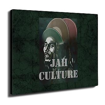Jah Marley musikk Rasta veggen kunst lerret 40 cm x 30 cm | Wellcoda