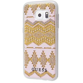 Guess tribal Hard Cover beige sleeve for Samsung Galaxy S7