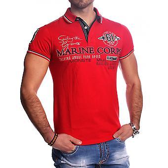 Mens kort erme Poloshirt t-skjorte Polo skjorte Sporty Casual broderi strekning