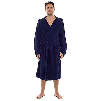 Tom frankerne Herre supersoft blødt bomuld frotté hætteklædte Morgenkåbe