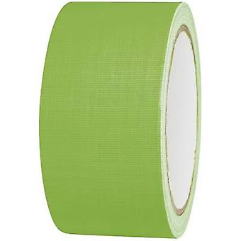 TOOLCRAFT 80FL5025GC 80FL5025GC Nastro di stoffa 80FL5025GC Neon verde (L x W) 25 m x 50 mm 25 m