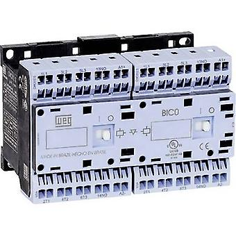 WEG CWCI09-01-30D24S Reversing contactor 1 pc(s) 6 makers 4 kW 230 V AC 9 A + auxiliary contact