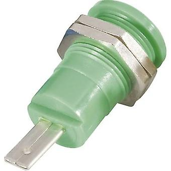 Schnepp BU 4600 gr Safety jack socket Socket, vertical vertical Pin diameter: 4 mm Green 1 pc(s)