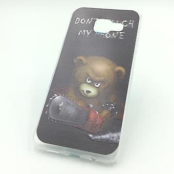 Telefono cellulare custodia per Samsung Galaxy A3 2016 orso non toccare tasca + 1 x serbatoio protezione vetro nuovo