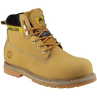 Amblers Safety Mens FS7 Steel Toe Cap Leather Safety Boots Brown