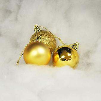 Kingfisher 18 Pack 5cm Gold Baubles Christmas Xmas Tree Festive Decorations