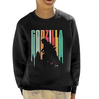 Godzilla Regenbogen Streifen Kinder Sweatshirt