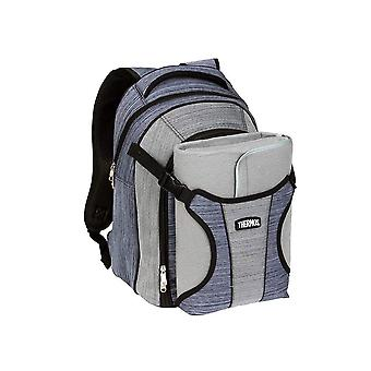 Thermos Natural Style 4 Person Picnic Backpack w/Blanket (Blue/Grey)