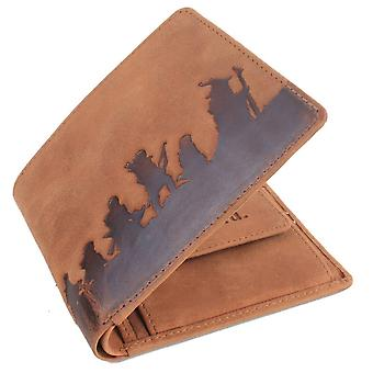 Mustard Ring Bifold and Coin Wallet - Brown