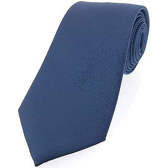 David Van Hagen Diagonal com nervuras gravata de seda - azul jeans