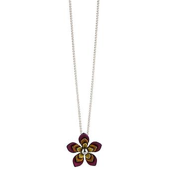 Ti2 Titanium Triple Five Blütenblatt Blume Halskette - Brown