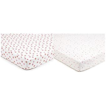 Breathable Baby Super Dry Cot Sheets 2 Pack