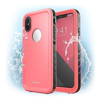 iPhone XS Max Waterproof Case, [Omni] Shockproof Snowproof Dirtproof Case with Built-in Screen Protector 2018 (Pink)