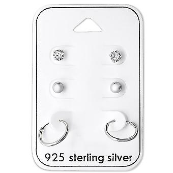 Round - 925 Sterling Silver Sets - W28457x