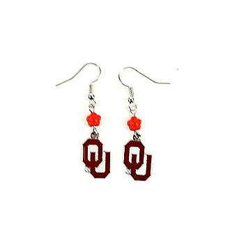 Oklahoma Sooners NCAA Sophie Style Dangle Earrings