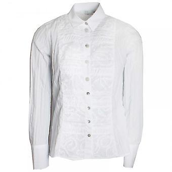 Just White Women's Textured Long Sleeve Shirt