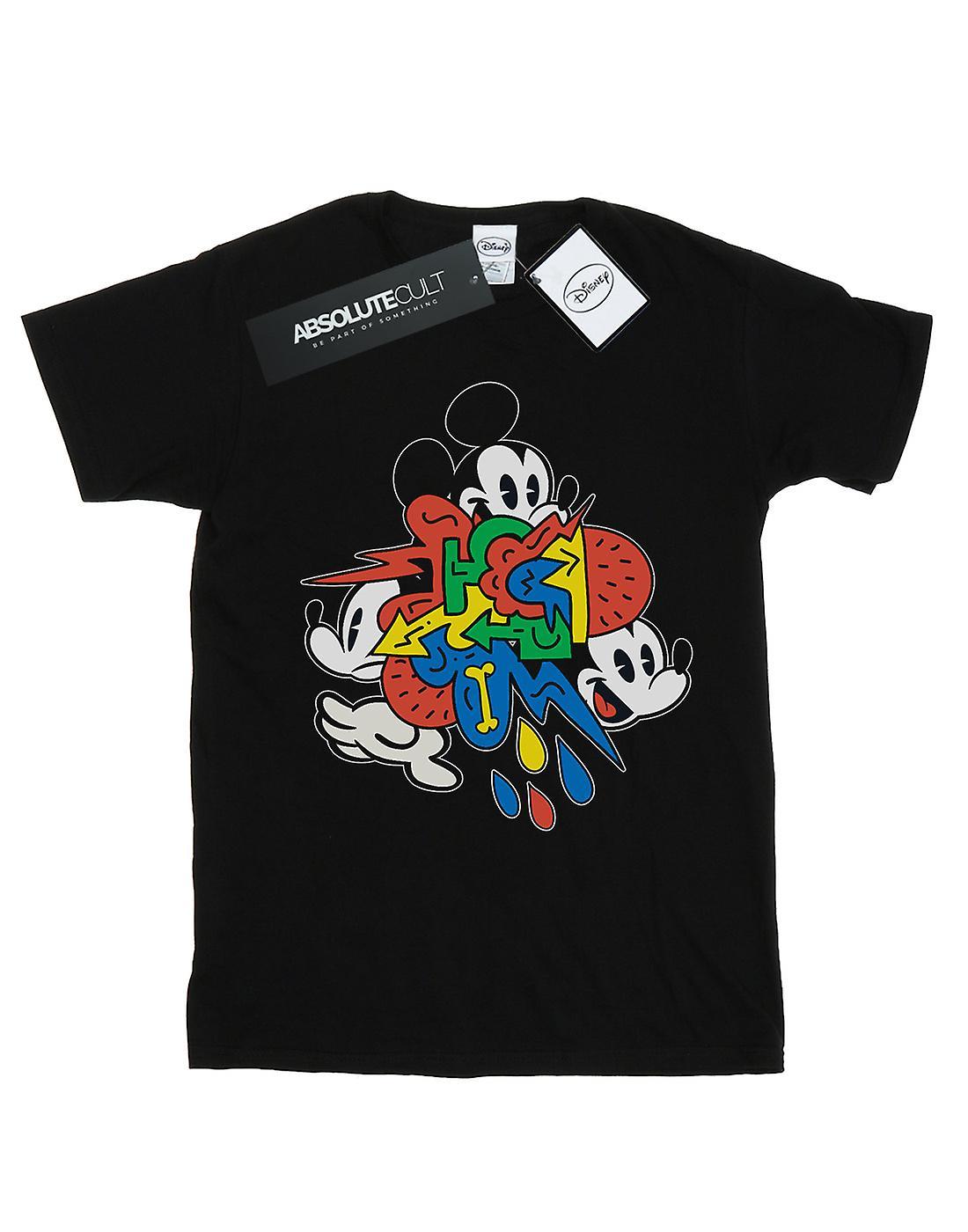 Disney Women's Mickey Mouse Vintage Arrows Boyfriend Fit T-Shirt