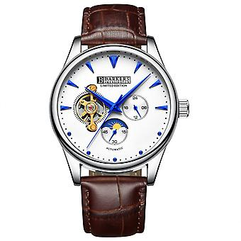 Barkers of Kensington Automatic Mens Watch with Brown Leather Strap