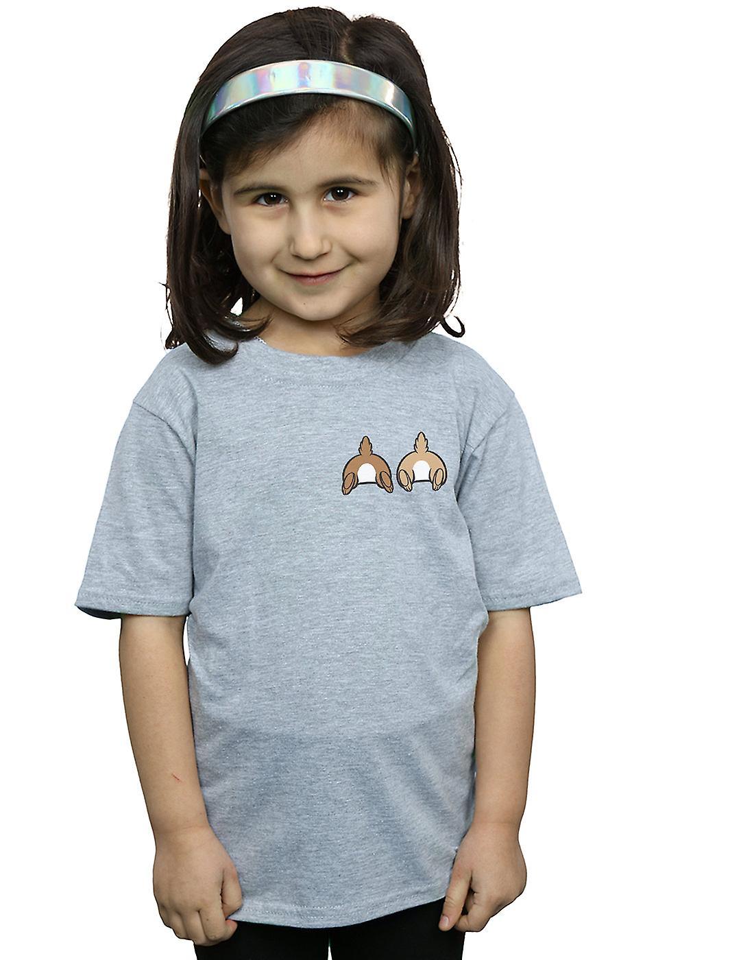 Disney Girls Chip N Dale Backside Breast Print T-Shirt