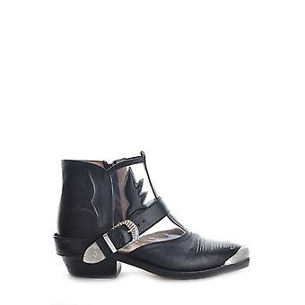 Golden Goose Ezbc011020 Kvinnor's svarta läder kängor
