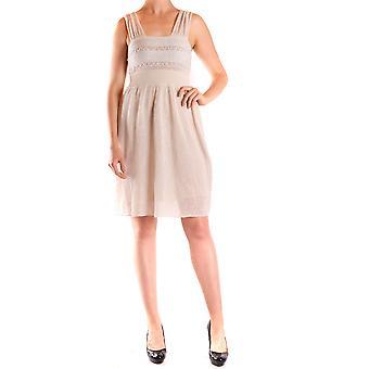 Liu Jo Ezbc086141 Women's Beige Linen Dress