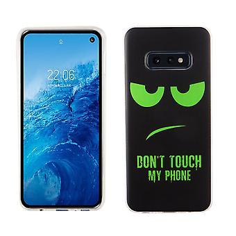 Samsung Galaxy S10e rey tienda celular caso caso protector parachoques no toques mi teléfono verde