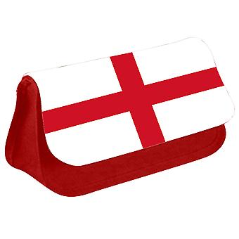 England Flag Printed Design Pencil Case for Stationary/Cosmetic - 0208 (Red) by i-Tronixs