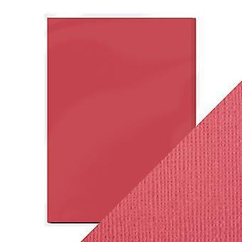 Craft perfect A4 weven textuur kaart framboos Pink Tonic Studios