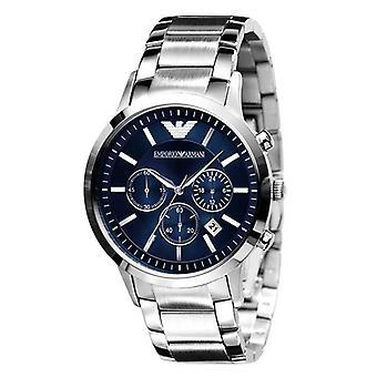 Emporio Armani Watches Ar2448 Classic Blue Silver Mens Watch