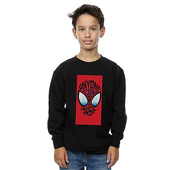 Marvel Boys Spider-Man into a Spider-verse maszk pulóver