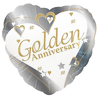 Creative Party 18 Inch Golden Anniversary Foil Balloon