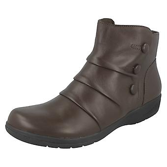 Ladies Clarks Ankle Boots With Button Detail Cheyn Anne