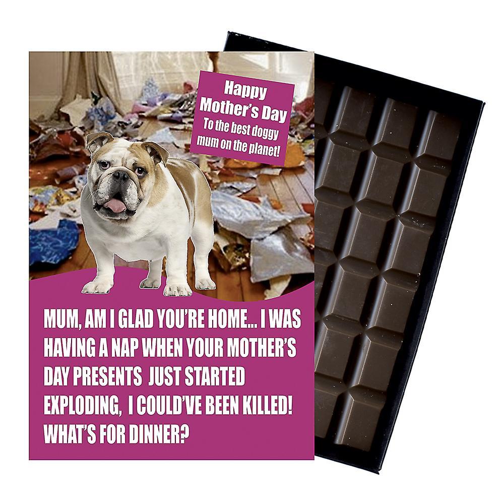 English Bulldog Dog Lover Mothe'rs Day Gift Chocolate Present For Mum Mom UK