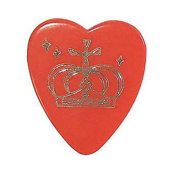 6 Pickboy Angel Rocks Guitar Picks/Plectrums - Red Silver Crown - Heavy 1.00mm