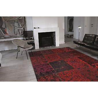 Vintage 8014 - rood rood & ben rechthoek tapijten moderne tapijten