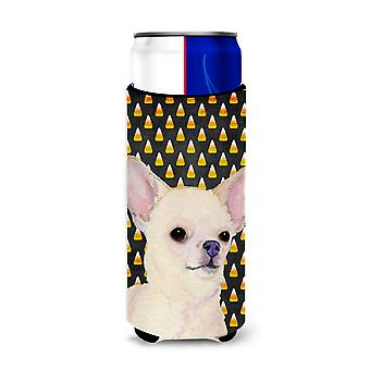 Chihuahua Candy Corn Halloween Portrait Ultra Beverage Insulators for slim cans