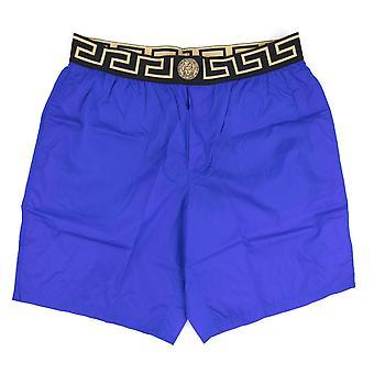 Versace Medusa tailleband lange zwemmen shorts Bluette