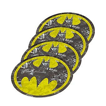 Batman Symbol Platte 4-teiliges Set