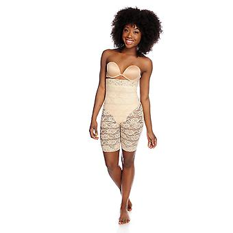 Slim 'N Lift Stretch Lace High Waist Pull-on Shaping Shorts C410628