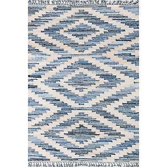California hand woven blue 2'3