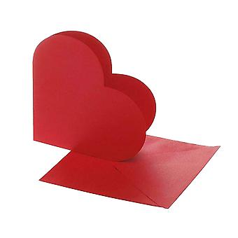 10 Red Heart Shaped Card Blanks and Envelopes | Card Making Blanks