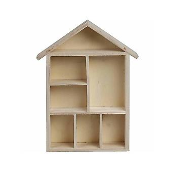 30cm House Shaped Shelving for Home Decor Crafts | Wooden Shapes for Crafts
