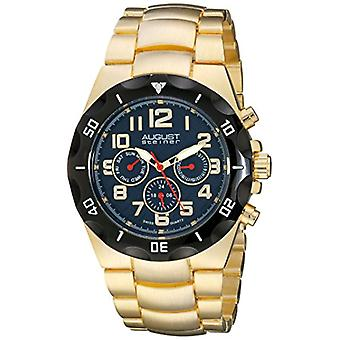 August Steiner-quartz with analog Display and AS8161YGBU Golden alloy bracelet