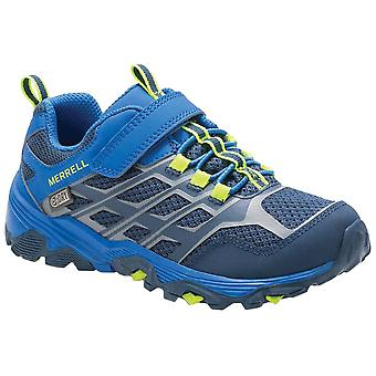 Merrell Navy Childrens Moab FST Low Walking Shoes