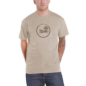 George Harrison T Shirt Dark Horse Records Logo Official Mens New Beige Natural