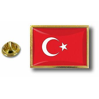 Kiefer Pines Abzeichen Pin-Apos;s Metall mit türkischen Türkei Flagge Schmetterling Pinch