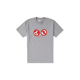 Supreme Save The Planet Tee Heather Grey - Clothing