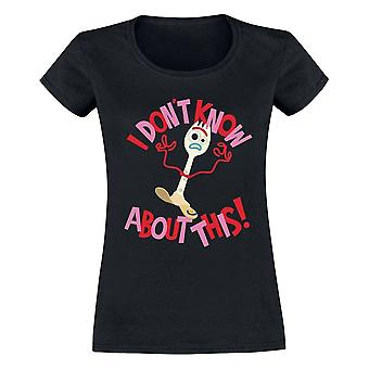 Mulheres ' s Toy Story 4 Forky preto T-shirt