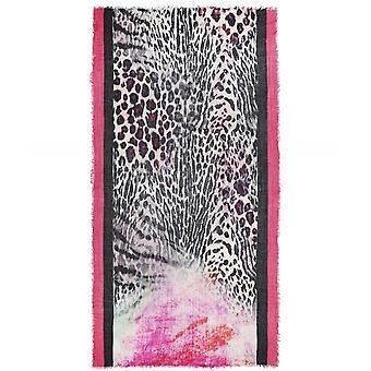Ahujasons luipaard print wol Blend sjaal